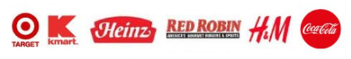 Primary color red company logos